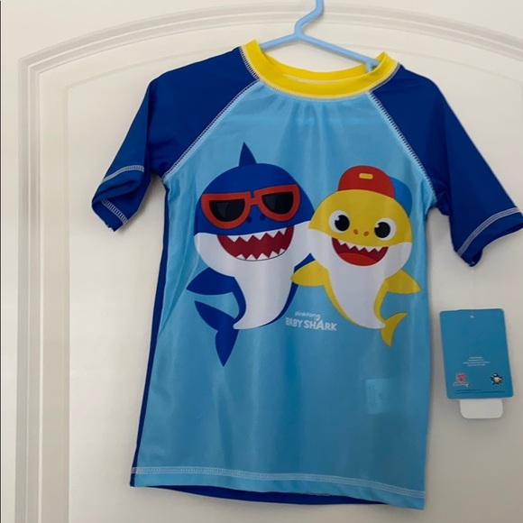 Blue NWT Toddler Boys/' Pinkfong Baby Shark Bathing Suit 4T Swimsuit Shorts
